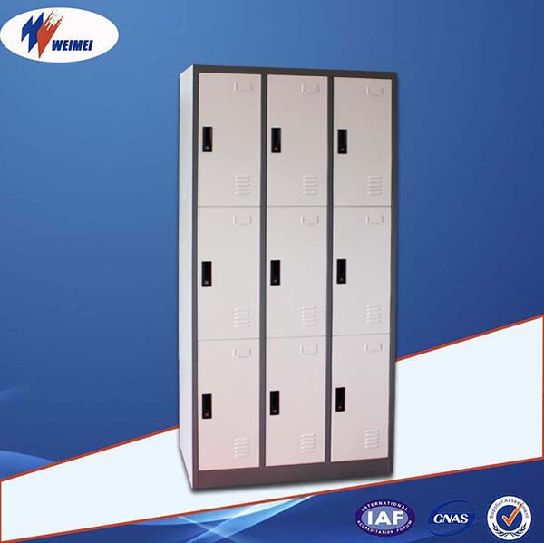9 Door Clothing Steel Locker/Wardrobe Small Metal Locker For Kids School Lockers For Sale