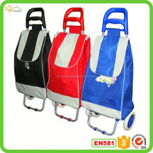 Shopping trolley bag folding shopping carts with wheels and handles