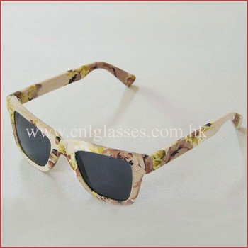 acetate new design 2011 fashion sunglasses wrapped cloth/leather