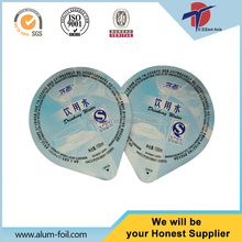 Die Cut Aluminium Foil Lids For 250ml PP Water Cup