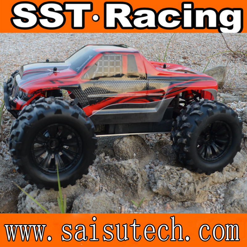 nitro rc truck 1/10 4wd off road rc nitro car sst racing toy rc car made in china