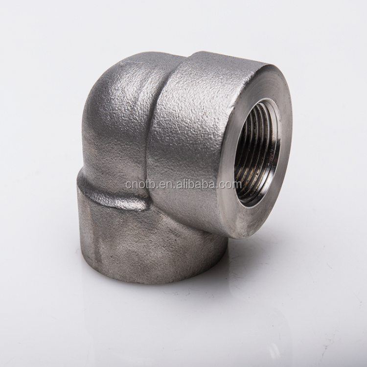 High pressure 3000# NPT SCRD thread fitting 90 elbow