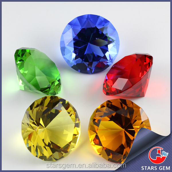 Wuzhou aaa round cut color cubic zirconia loose gemstone