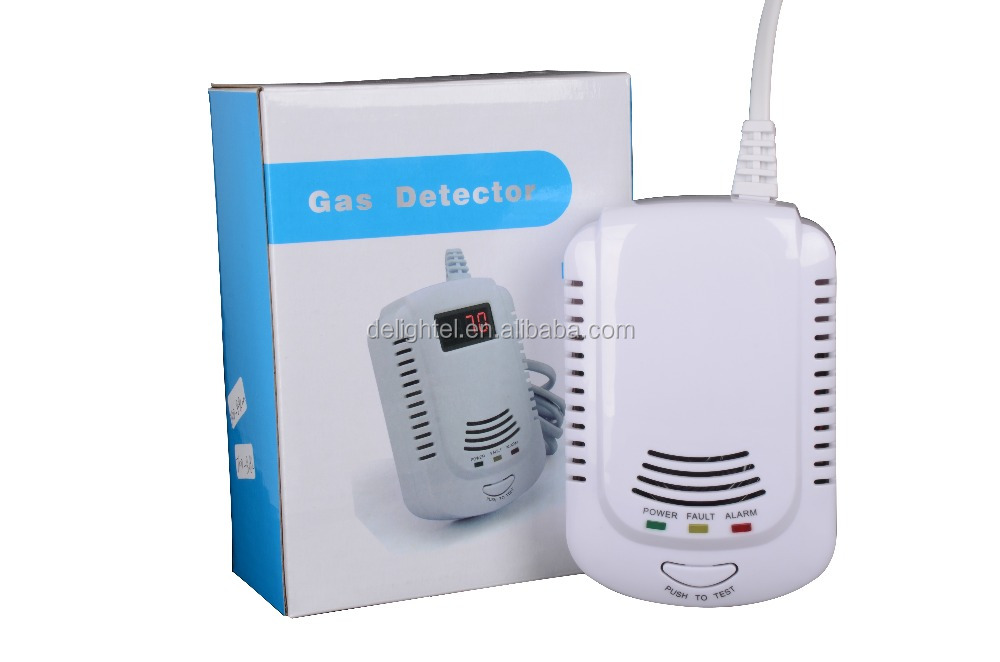 New Wired Gas Leakage Sensor Detecting Natural Gas City LPG Security Monitor Alarm for Home Hotel Restaurant
