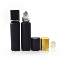 black red amber green clear frosted roller bottle 10ml glass roll on bottle with aluminum cap and rollers