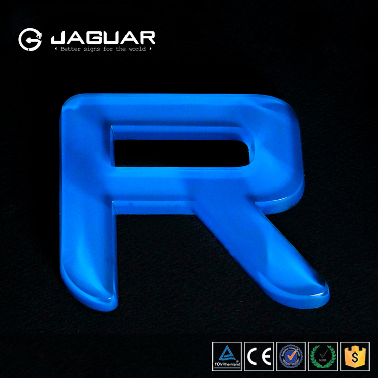 Manufacturer custom jaguar outdoor letter sign clear acrylic alphabet letter