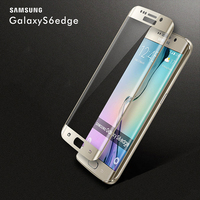 Full Screen Cover 3D Curved 9H Tempered glass For Samsung s6 edge screen protector