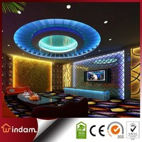 KTV Rooms Fan-shaped Design Wall to Wall Fireproof Carpet