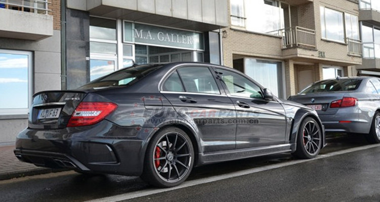 C63 black series body kits fit for W204 C63 2011year to black series wide body kits C63 coupe wide kits FRP+carbon fiber