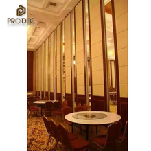 Banquet hall folding partition veneer partition folding walls