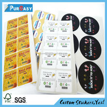 High quality small box labels for contact lens
