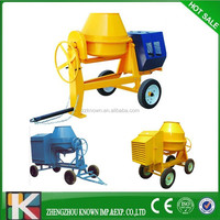Mini Cement Mixer with Electric Start 6.6HP Diesel Engine Concrete Mixer