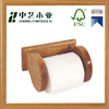 Unfinished custom FSC handmade wooden hanging toilet paper roll holder