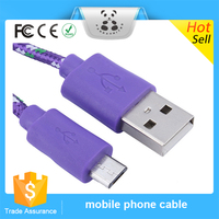 New Good Service Hot Sale High Speed Nylon Braided Charging Micro USB Cable Male To Male Cable
