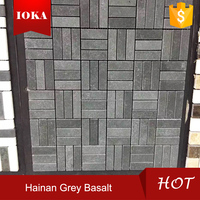 cheap natural grey basalt stone lava stone mosaic tile