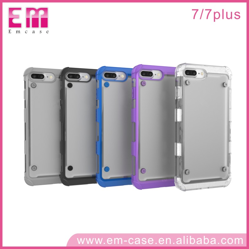 Transparent TPU PC Bumper Case For iPhone 7 Ultra Thin Phone Case