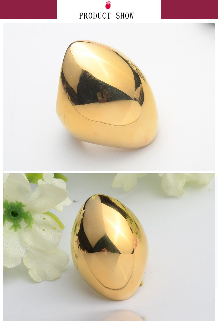 Hot sale big imitation gold ring for men