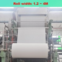 Recycled raw material to make roll tissue toilet paper factory