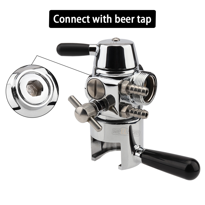 Stainless Steel Beer Bottle Tap de-foaming,Growler Filler with Adjustable Home brewing Beer Faucet Beer Bar Accessories