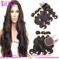 Aliexpress Hair Extensions Top Quality No Shedding No Tangle Brazillian Virgin Hair Bundles With Closure