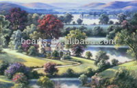 Landscape Dream Land River's Edge Oil Paintings on Canvas