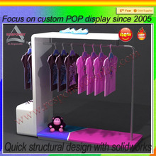 trade showdisply stand ,sweat shirts display shelf, metal shirts display showcase
