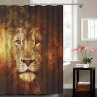 Competitive Price Digital Printed Waterproof Polyester Shower Curtain For Bathroom