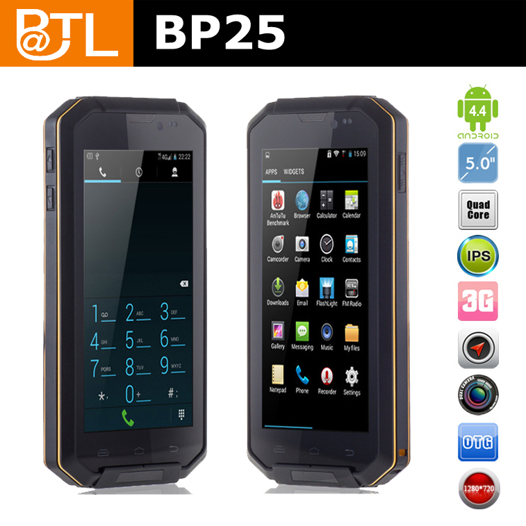 long battery life 3G call BATL BP25 shockproof military waterproof mtk6589 smart phones best employer management phone