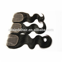 High quality brazilian hair weft closures piece