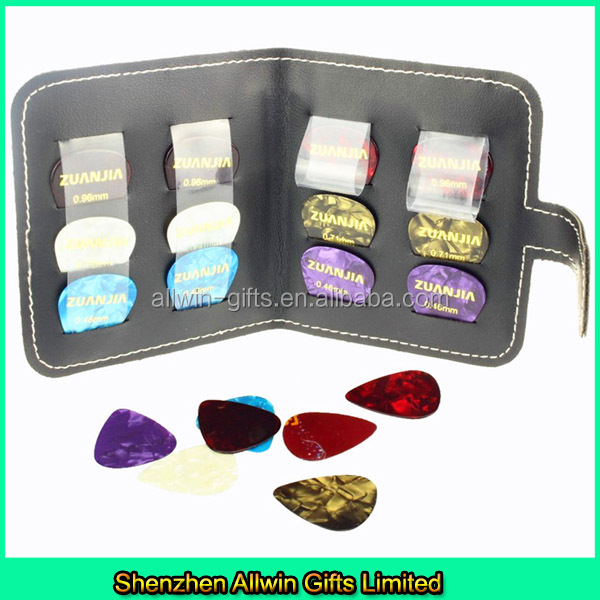 Customized Guitar Pick Case/Pick Pletrum holder/Leather Guitar Pick Wallet
