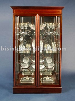 Antique English style bookcase | living room wine cabinet two door | showcase B400057