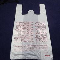 t-shirt thank you plastic bag with good quality for shopping