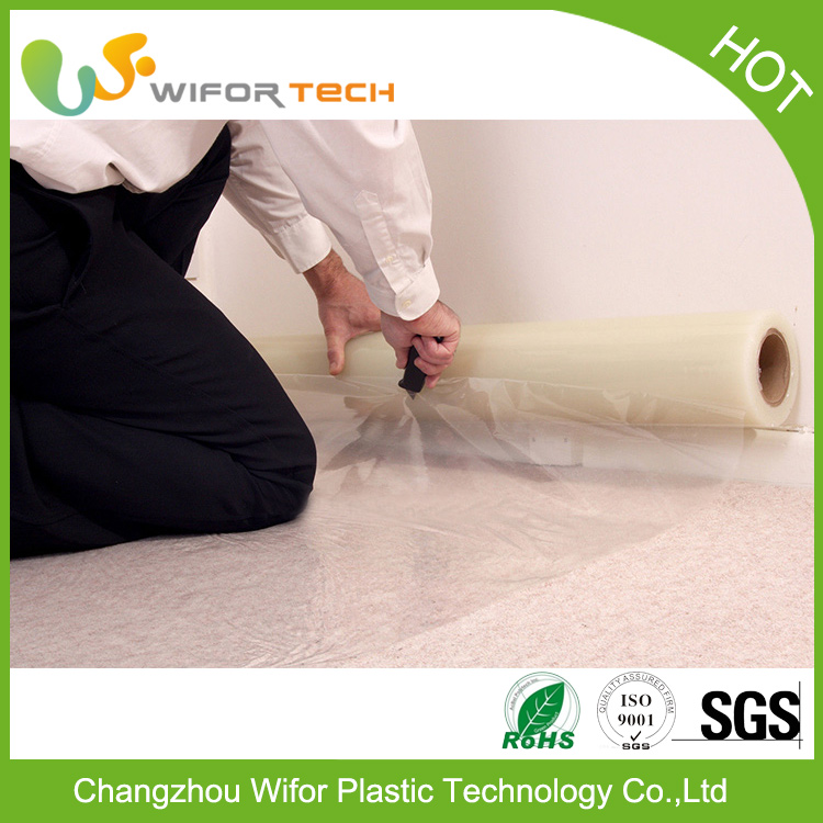 Surface Protection PE Material Temporary Self Adhesive Carpet Shields