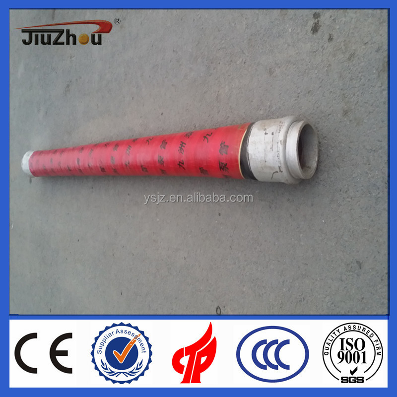 "Concrete pump Parts 2 Ends Steel Wire braided rubber hose DN125 5""*4M, 4layer,"