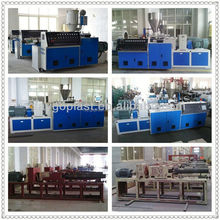 Plastic Pipe Conical Twin Screw Extruder piping prefabrication production line