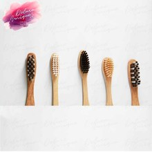 OEM Wooden Bamboo Toothbrush Pure Natural 100 Biodegradable Charcoal Organic Toothbrush with Hot-stamping logo