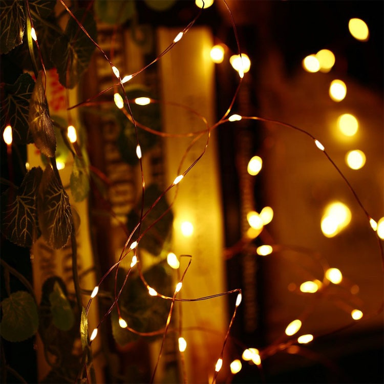 Outdoor Decoration <strong>Led</strong> Fairy Lights Solar Powered Copper String Lights 33ft 100 <strong>Led</strong> Starry Lights For Christmas