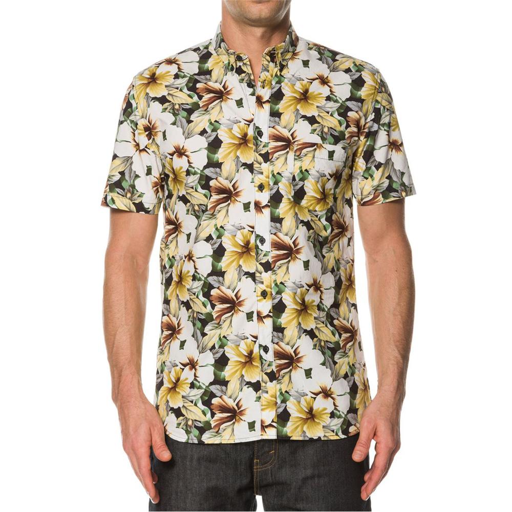 China wholesale shirt cheap woven 100 cotton short sleeve for Get shirts printed cheap