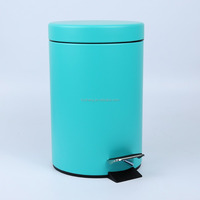 5L bathroom stainless steel trash can, dustbin, foot pedal bin with inner bucket