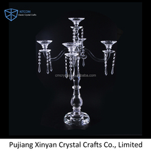 Newest listing elegant table crystal candelabra CLT123