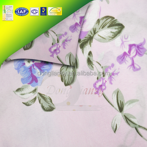 textile polyester spandex floral print fancy knitted fabric