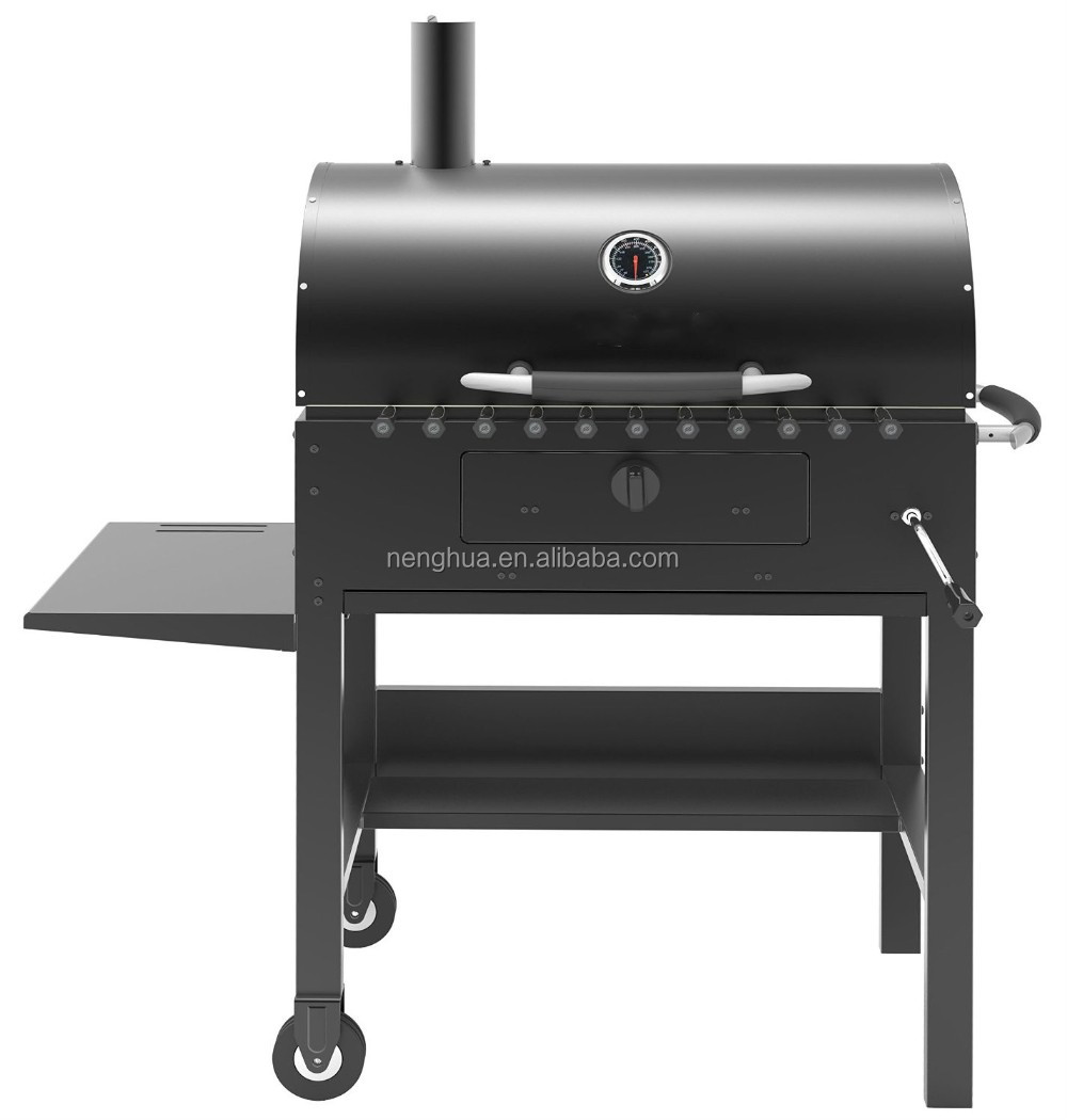 Garden smoker, heavy duty charcoal barbecue weber grill