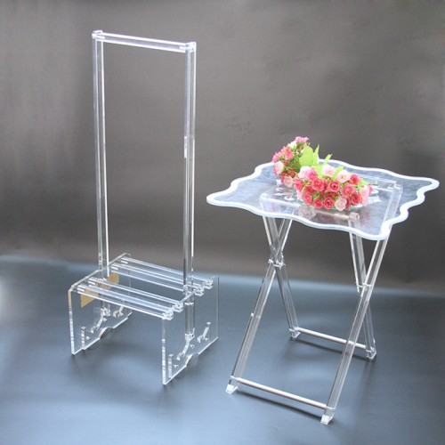 Acrylic Coffee Waterfall Table Lucite