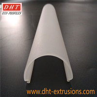 led light extrusion profiles frosted pmma plastic shade