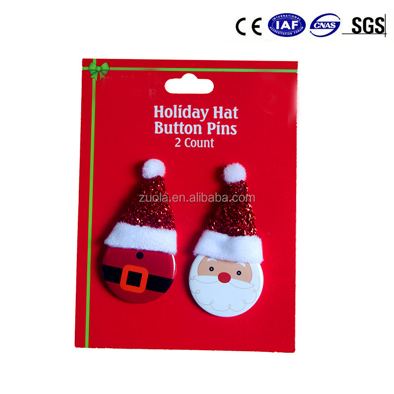 Christmas Button Pin Badge for Holidays Promotion in Stock (Can be Custom)