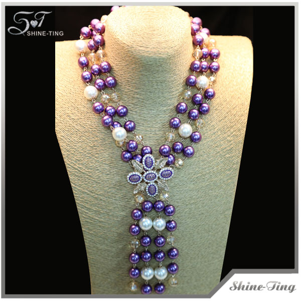 new style Hot Selling Collar Jewelry pearl necklace hyderabad for women