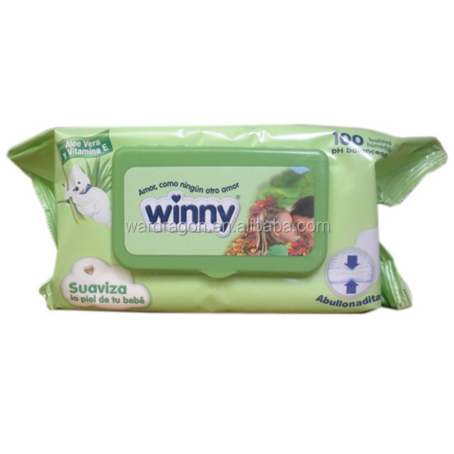 Soft nonwoven baby skin care pocket size baby wipes