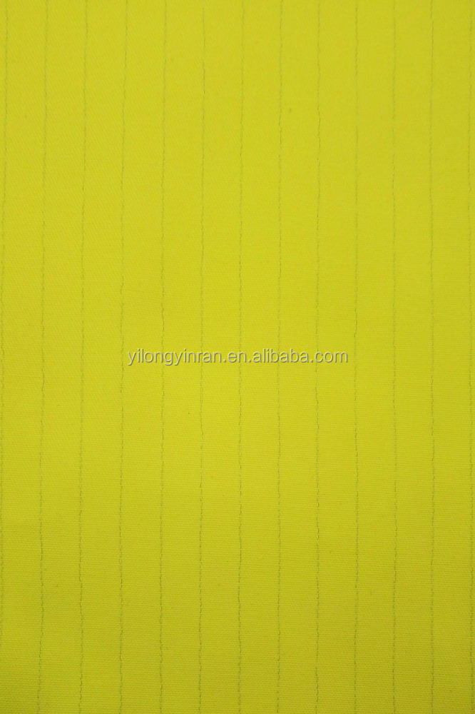 ANTISTATIC BARS WORKWEAR FABRIC Polyester/Cotton T65/C35 32/2*32/2 100*53 TWILL PLAIN DYED WORKWEAR FABRIC