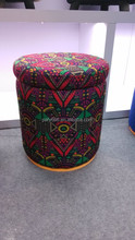 Indian leather ottoman inside material MDF storage foot stool living room furniture home furniture