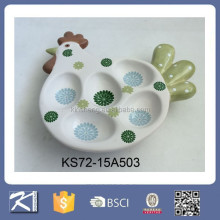kitchen decoration novelty white ceramic hen egg holder